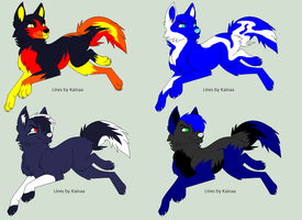 Free wolf Adopts 1 closed by Kozar-Adoptz
