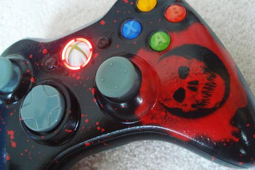 Gears of War Custom Controller by velocitti