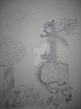 Vine creature uncolored by retrophoenix1987