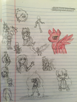 May 2014: Doodles 2 by TheRebelPhoenix