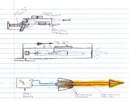Weapon Concept Art by Brandon-Tarian