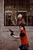 Claire Redfield and Zombies I by Gakosplay