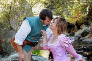 I finally said yes. Rapunzel and Flynn Cosplay by aimeekitty