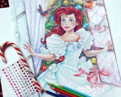 Ariel (Christmas morning) WIP by Alena-Koshkar