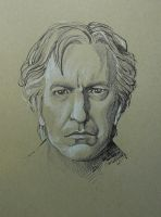 RIP Alan Rickman by outsidelogic