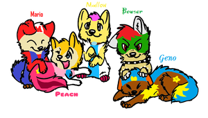 The 5 heroes....AS PUPPY'S!! by gameaddict123