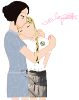 Katniss and Prim Everdeen, Good-Bye by lizzy905