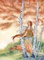 Birch Maiden by MeredithDillman