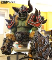 World of Warcraft Orc Cosplay WIP 19-1 SKS Props by SKSProps