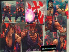 Ultimate Old Style Evil Ryu by monkeygigabuster
