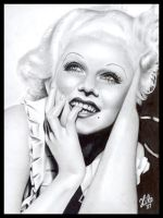 Jean Harlow : Smile by tainted-orchid