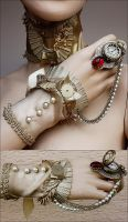 Officer Collar And Cuff by Pinkabsinthe
