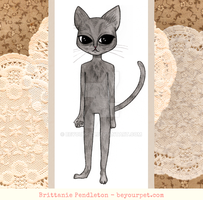 Cat Paper Doll Unclothed by beyourpet