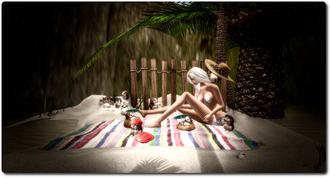 Lazy Day at the Beach by reba2108