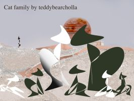 Cat Family by teddybearcholla