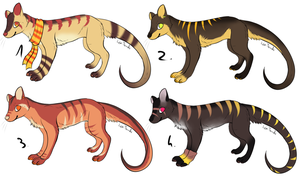 CLOSED - Thylacines Adoptables 207 by LeaAdoptables