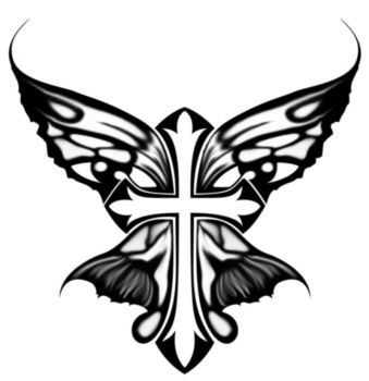 Cross+Butterfly Design by FeiTerry
