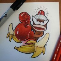Sketch Lottery #2 Ape Escape by CleverAvian
