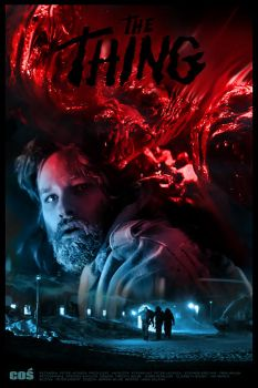 THE THING - John Carpenter - movie poster by P-Lukaszewski