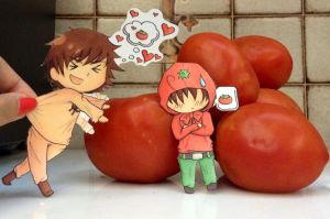 Spain and Romano Paperchildren: Buono Tomato by inuyashazeldaeragon
