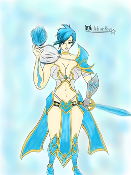 Lapis Summoners Wars Pinup by adrianrojo1000