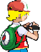 My pokemon Battle Sprite by senordunut