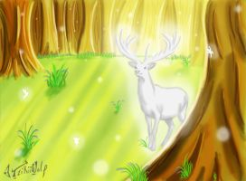 White Stag of the Forest by TzikiiWolf