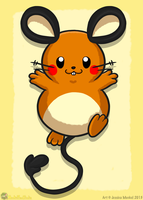 Dedenne by MeckelFoxStudio