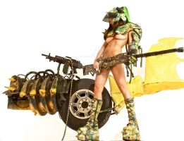 Nude Apcolypse girl with war machine by HotMedievalBabes