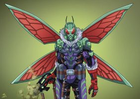 Killer Moth (Earth-27) commission by phil-cho