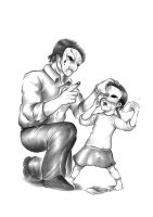 Clothespeg-Father and Daughter by CarbineGuy