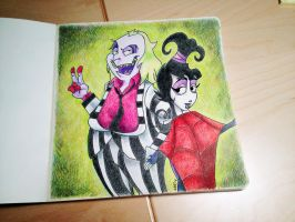 Beetlejuice and Lydia by mo-stylez09