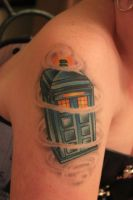 Tardis Tattoo by AirshipPirateDaylina