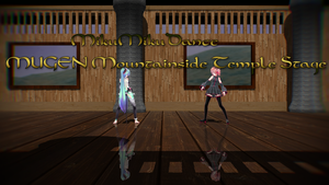 MMD MUGEN Mountainside Temple Stage by vocaloidfantasy