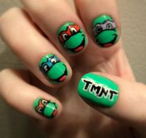 TMNT Nails by kaylamckay