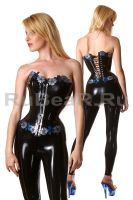 Blossom corset by latex-rat