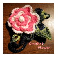 Crochet flower brooch by Coccis
