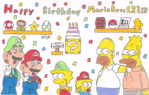 Happy Birthday Mariobros123 by MarioSimpson1