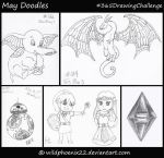 365 Drawing Challenge - May Doodles by Wildphoenix22