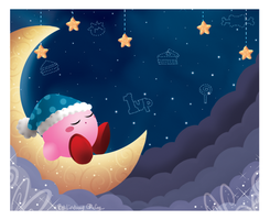 Kirby's Moonlight Nap by Annortha