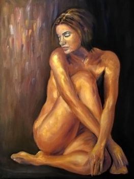 Seated nude by GreenOctober