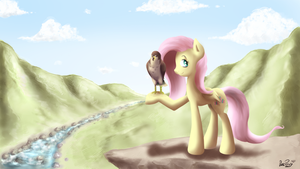 [MLP] Pony and the falcon by DatPonyPL