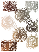 Ornamental Brushes by draconis393