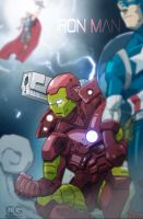 Iron man prepares for battle by chris-gooding