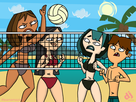 Amazon Playing Volleyball (NSFW Available) by DJgames