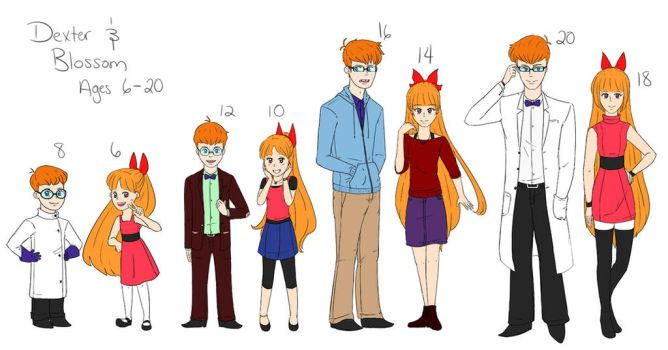 Age Ref for Dexter and Blossom by TookishPerian
