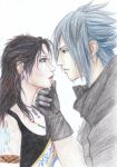 Noctis and Fang by Luxeona