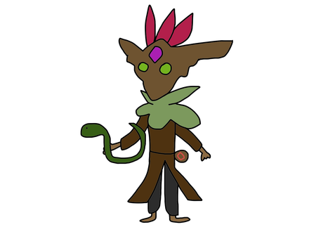 mal'damba and his snake from paladins by paladinsfan