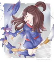 Little Witch Academia - Akko can fly? by salgatanas