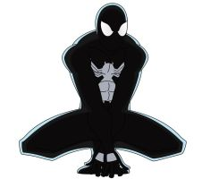 Black Suit Spidey Crouching by TheHypersonic55